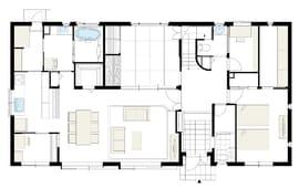 72.4坪の家の間取り図