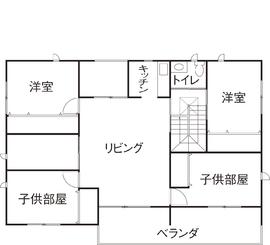 59.5坪の家の間取り図