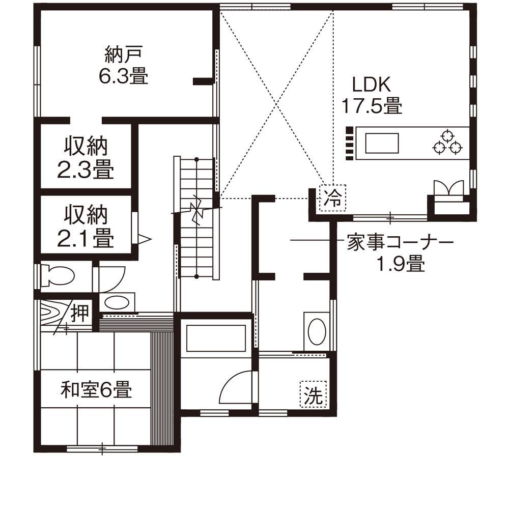 50.5坪の家の間取り図