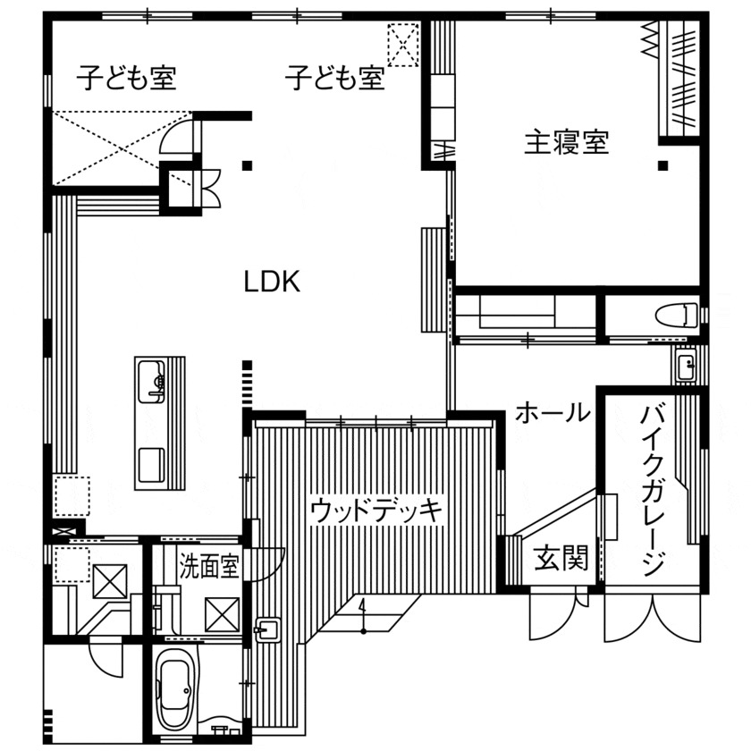 35.0坪の家の間取り図