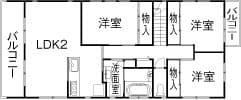 71.0坪の家の間取り図