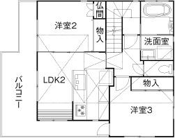 注文住宅で2000万円台の家の間取り図