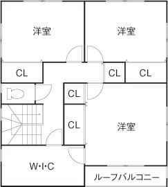 56.9坪の家の間取り図