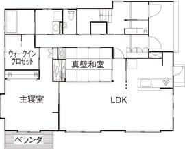 61.9坪の家の間取り図