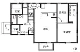注文住宅で3000万円台の家の間取り図