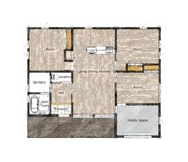 26.0坪の家の間取り図