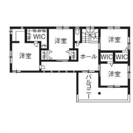 77.7坪の家の間取り図