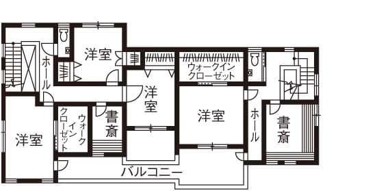 72.0坪の家の間取り図