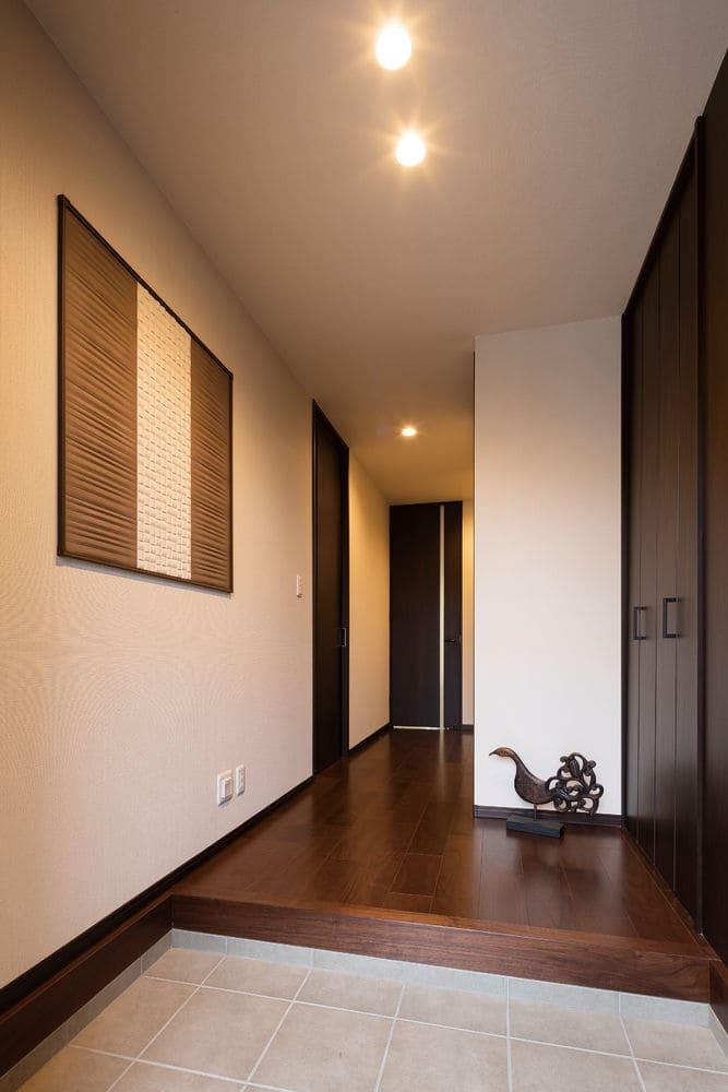 48.9坪の家の内観(玄関)