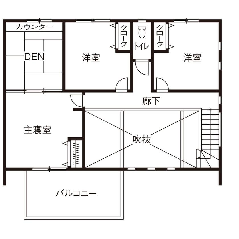 36.4坪の家の間取り図