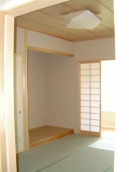 注文住宅で4000万円台の家の内観(和室)