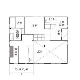 27.3坪の家の間取り図
