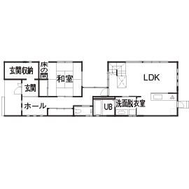 50.2坪の家の間取り図