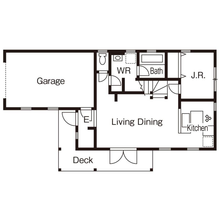 45.2坪の家の間取り図