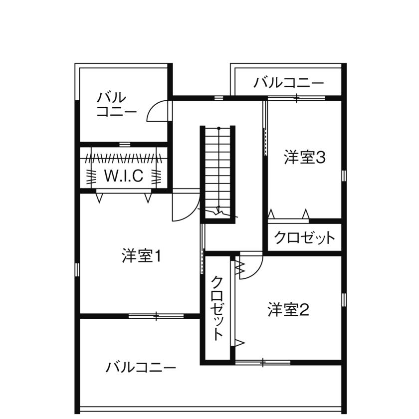 55.0坪の家の間取り図