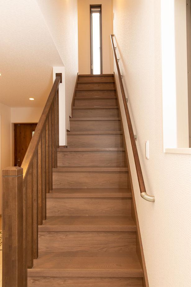55.0坪の家の内観(階段)
