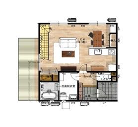 27.8坪の家の間取り図