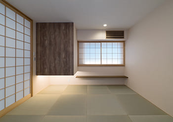 注文住宅で5000万円以上する家の内観(和室)
