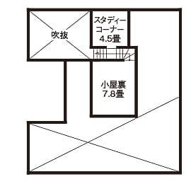 38.5坪の家の間取り図