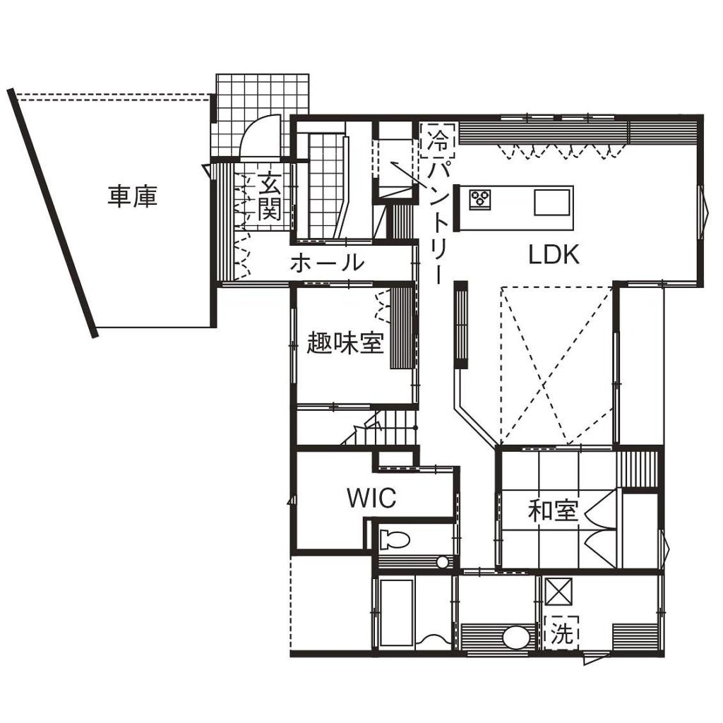 51.5坪の家の間取り図