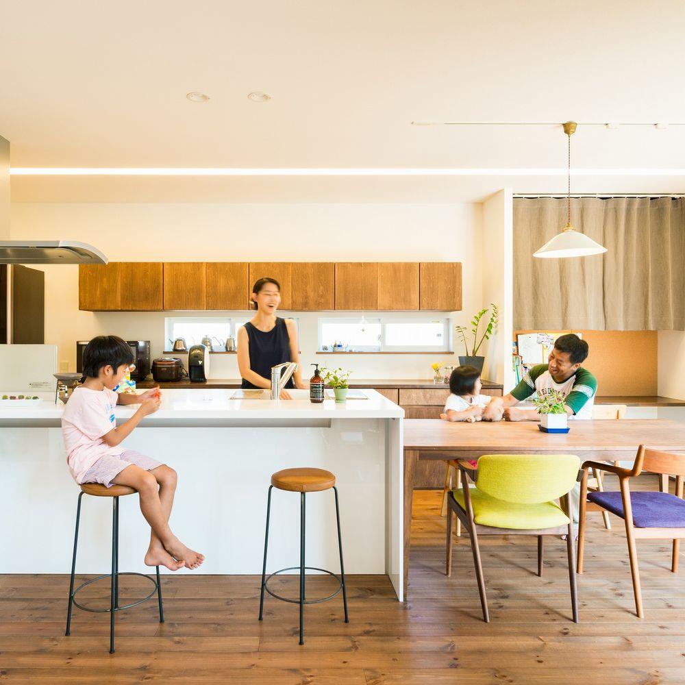51.5坪の家の内観(キッチン)