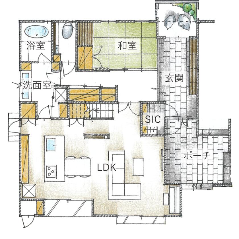 60.3坪の家の間取り図