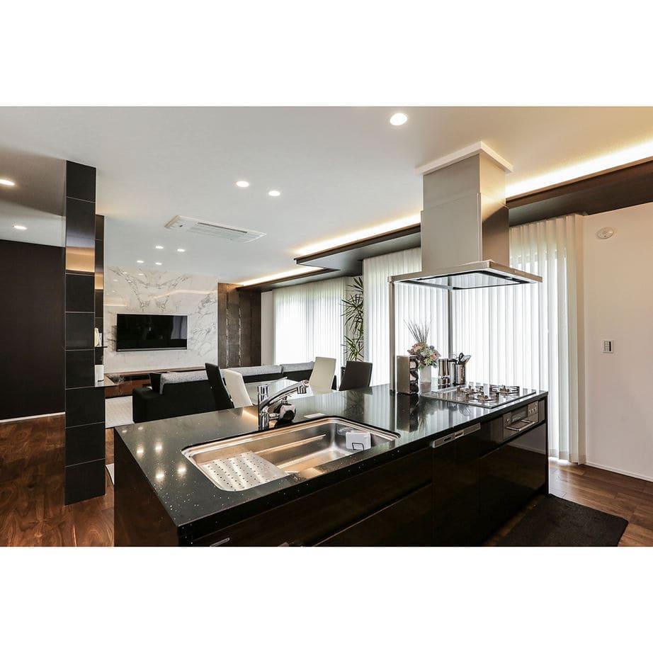 60.3坪の家の内観(キッチン)