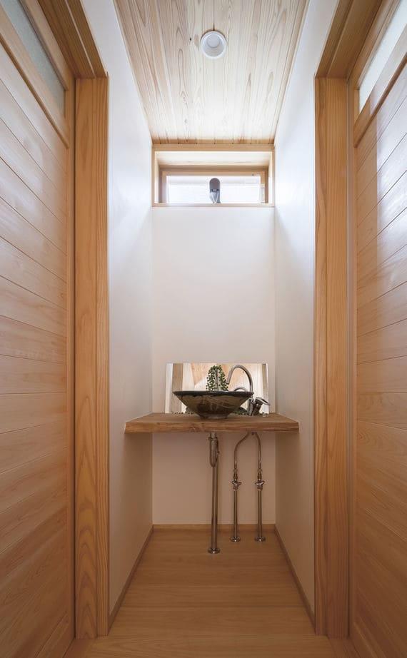 注文住宅で2000万円台の家の内観(洗面台)