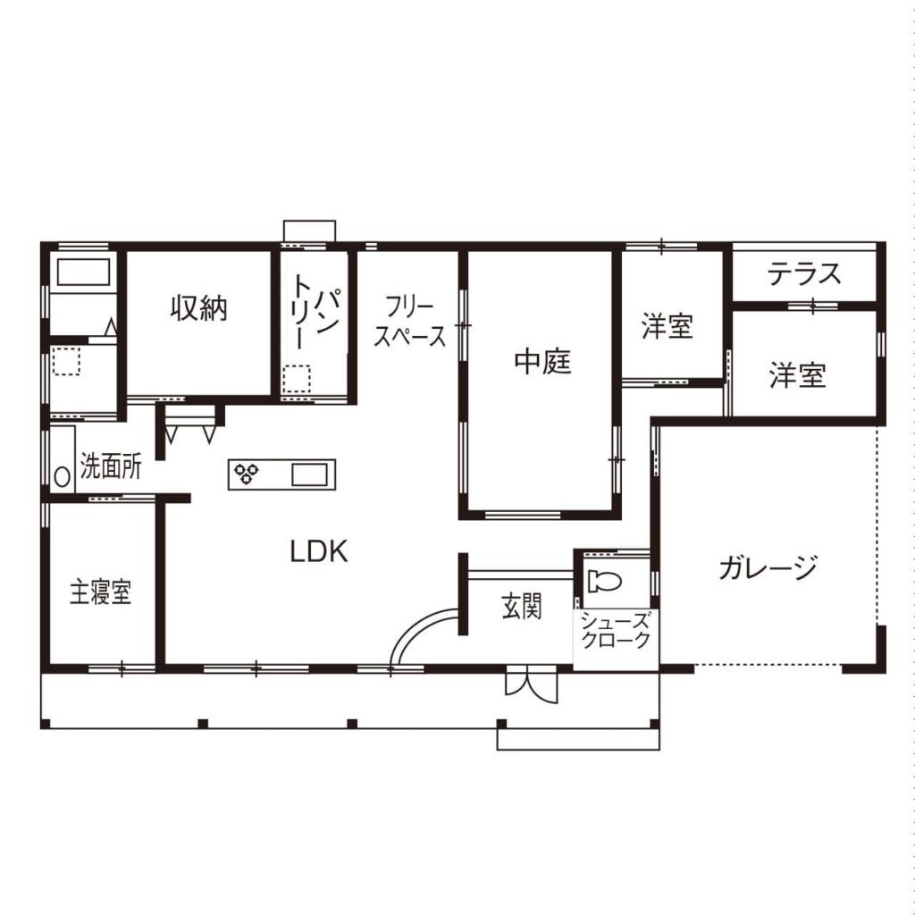 56.5坪の家の間取り図