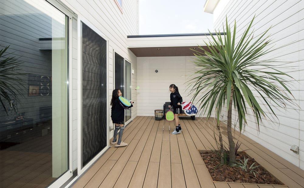 56.5坪の家の内観(中庭)
