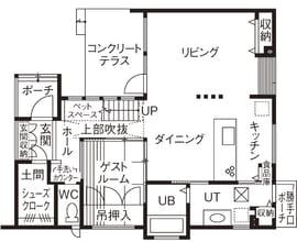 48.1坪の家の間取り図