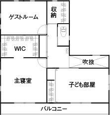 36.5坪の家の間取り図
