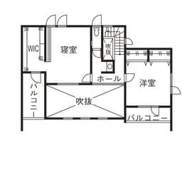 45.0坪の家の間取り図