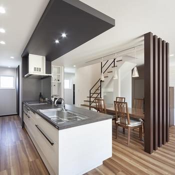 45.0坪の家の内観(キッチン)