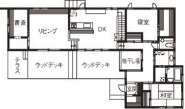 52.5坪の家の間取り図