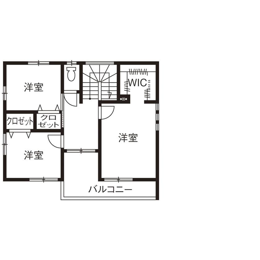 33.7坪の家の間取り図