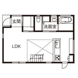 ローコスト住宅の間取り図(1階)