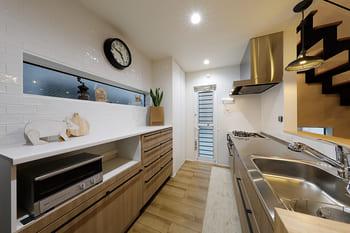 ローコスト住宅の内観(キッチン)