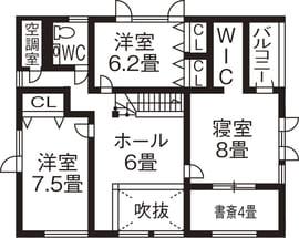 46.2坪の家の間取り図