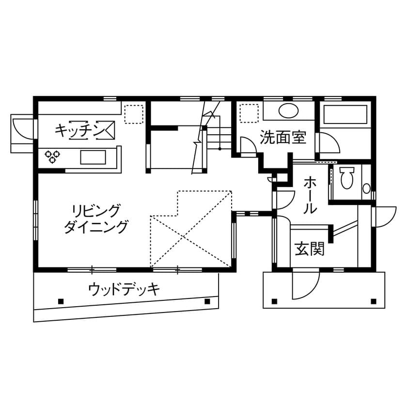 32.4坪の家の間取り図