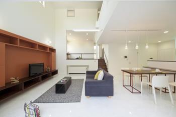 60.3坪の家の内観(LDK)