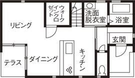 1,500万円の家の間取り図