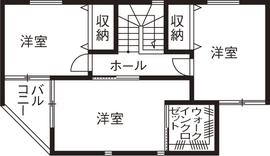 26.5坪の家の間取り図
