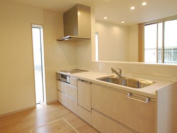 26.5坪の家の内観(キッチン)