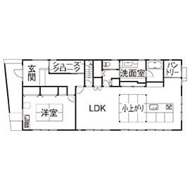 66.8坪の家の間取り図