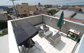 注文住宅で4000万円台の家の外観(屋上)