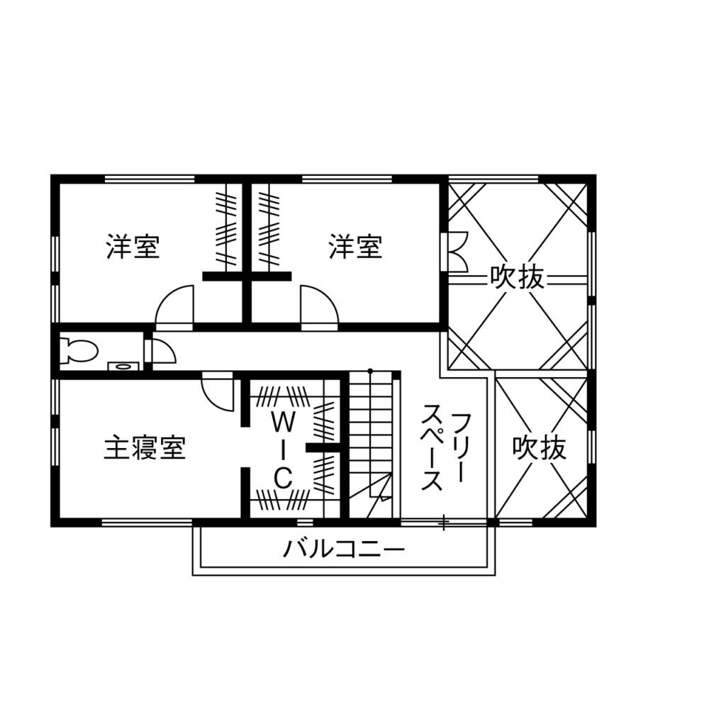 33.5坪の家の間取り図