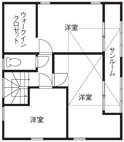 28.0坪の家の間取り図