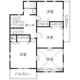 37.5坪の家の間取り図