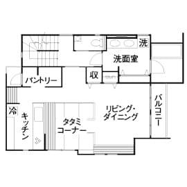 46.3坪の家の間取り図